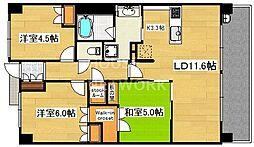 サンマンションアトレ西院[11F号室号室]の間取り