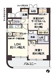 Villa・淀川[9階]の間取り