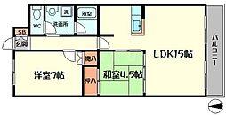 サニーコート暁[1階]の間取り