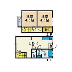 [テラスハウス] 神奈川県厚木市船子 の賃貸【/】の間取り