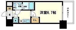 アドバンス新大阪ラシュレ 12階1Kの間取り