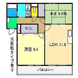 フィネス高須[3階]の間取り