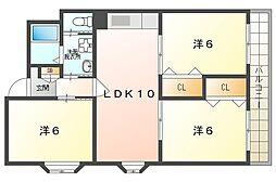 ウィステリアハイム 2階3LDKの間取り