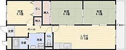 Rinon(リノン)国分[3階]の間取り