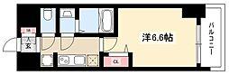 エステムコート名古屋グロース 9階1Kの間取り