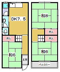 [一戸建] 大阪府枚方市茄子作北町 の賃貸【大阪府 / 枚方市】の間取り