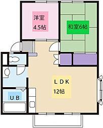 湘南桜コーポ[A201号室]の間取り