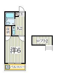 シンセイ2号[2階]の間取り