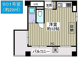 丸栄マンション幸町[6階]の間取り