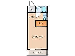 東コーポ[1階]の間取り