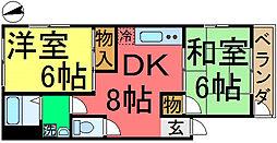リバーサイド斉藤[3階]の間取り