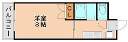 コーポラス東豊[4階]の間取り
