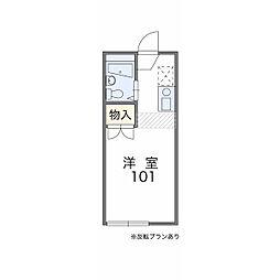 東京都東久留米市前沢3丁目の賃貸アパートの間取り