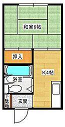 グリーンハイツ高松[105号室]の間取り