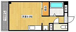 サンハイツ二日市[501号室号室]の間取り