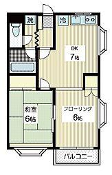 ヴァンベール88[2階]の間取り