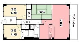 夙川レッチオ・レジデンツァ[203号室]の間取り