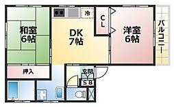 プチコーポ原田[3階]の間取り