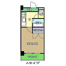 高知県高知市永国寺町の賃貸マンションの間取り