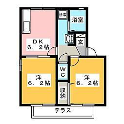 iホームTOWN 弐番館[2階]の間取り