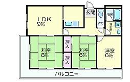 サンワロイヤルマンション2号館[317号室]の間取り