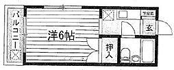 東京都豊島区駒込2丁目の賃貸アパートの間取り