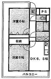 ラフィーヌ・有川壱番館[306号室]の間取り