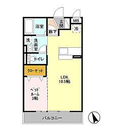 D−Room Saigou[3階]の間取り