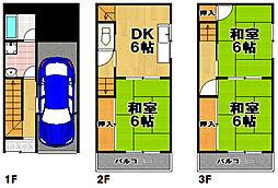 [一戸建] 大阪府大阪市此花区酉島3丁目 の賃貸【/】の間取り