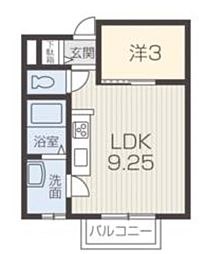 JR東海道・山陽本線 姫路駅 徒歩18分の賃貸アパート 3階ワンルームの間取り