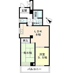東京都西東京市南町1丁目の賃貸マンションの間取り