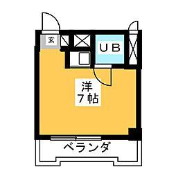 チサンマンション桜通久屋[3階]の間取り