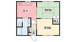 グリーンハウスアヤハ[102号室]の間取り