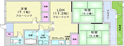広瀬の杜7番館 1階3LDKの間取り