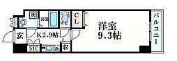 プリフェラブル栄 4階1Kの間取り