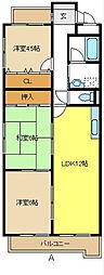 愛知県名古屋市南区豊3丁目の賃貸マンションの間取り