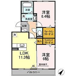 セジュール鵬舟オッツIII[1階]の間取り