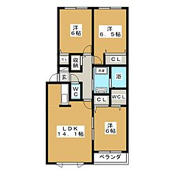フォルシュ北円山[3階]の間取り