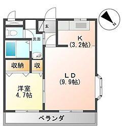 ベイサイド・ハウス 3階1LDKの間取り