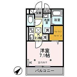 埼玉県桶川市寿2丁目の賃貸アパートの間取り