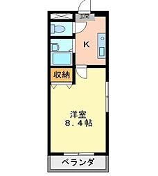 徳島県徳島市富田橋の賃貸マンションの間取り