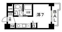 ティーズカレッジ近畿大学前(1R Bタイプ)[201号室号室]の間取り