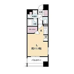 アパートメンツ江坂(旧パークアクシス江坂豊津町)[0310号室]の間取り