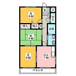 メゾンドスイートI[2階]の間取り