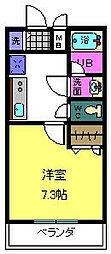 大阪府大阪市東成区深江南3丁目の賃貸アパートの間取り