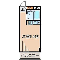 グリタァ六角橋[203号室]の間取り