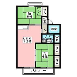 セジュール アベニュー[2階]の間取り