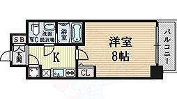 Osaka Metro千日前線 桜川駅 徒歩2分の賃貸マンション 4階1Kの間取り