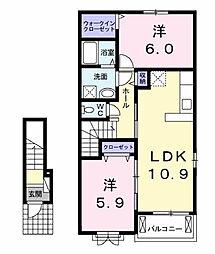 グローヴIV[2階]の間取り