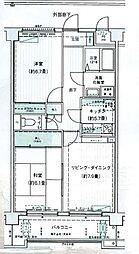 プレミアフラットさいたま新都心[106号室]の間取り